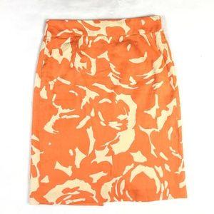 J.Crew Linen Blend Pencil Skirt Size 2 Knee Length
